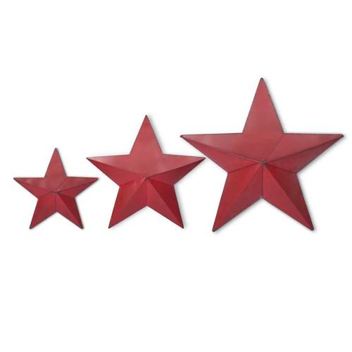 RED METAL POCKET STAR - LARGE
