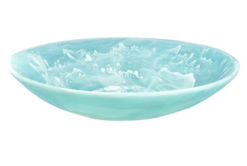 RESIN EVERYDAY BOWL XLARGE - Aqua Swirl