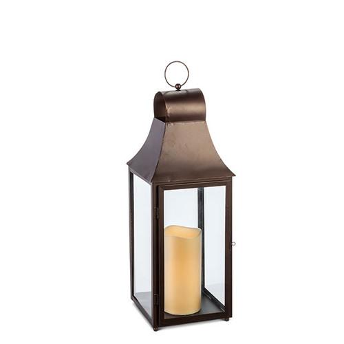 """28""""H Gold Metal Lantern"""