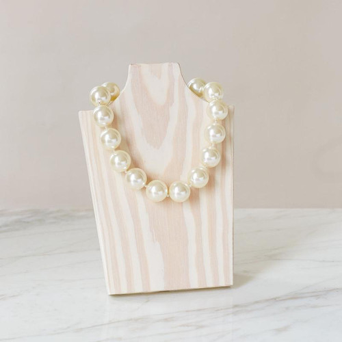 """Freezable lightweight pearls that bring you instant cooling relief, Necklace - Ivory - 16"""""""