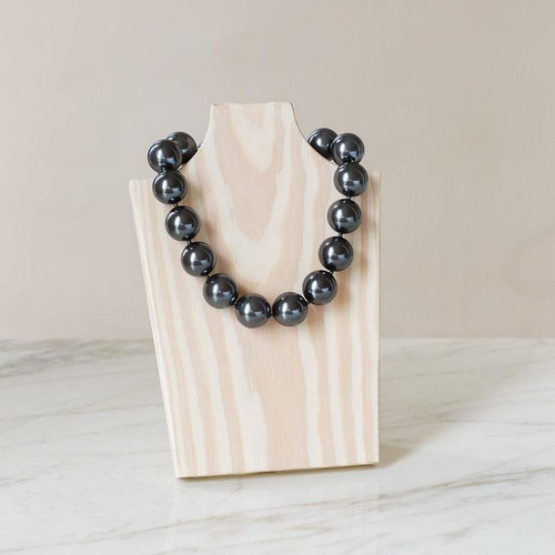 """Freezable lightweight pearls that bring you instant cooling relief, Necklace - Grey - 16"""""""
