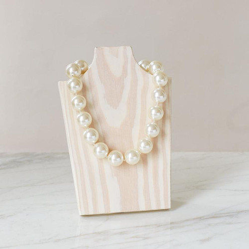 """Freezable lightweight pearls that bring you instant cooling relief, Necklace - Ivory - 18"""""""