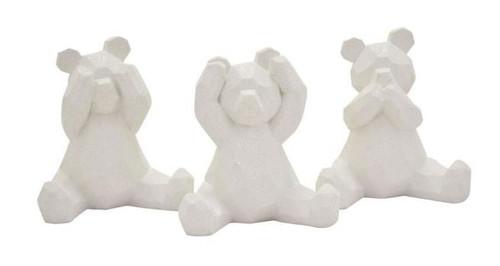BEARS - WHITE RESIN (SET OF 3)