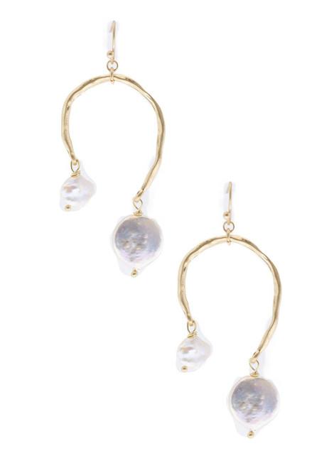 Uneven Drop Earring - Gold