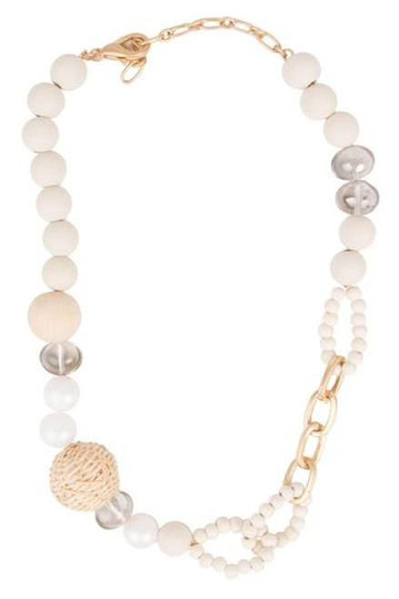 Boardwalk Beaded Necklace - Natural