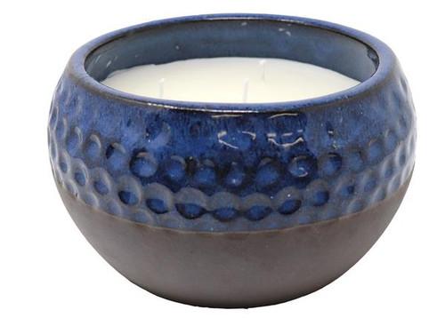 50 oz. 5 Wick Blue Ceramic Pot Citronella Candle
