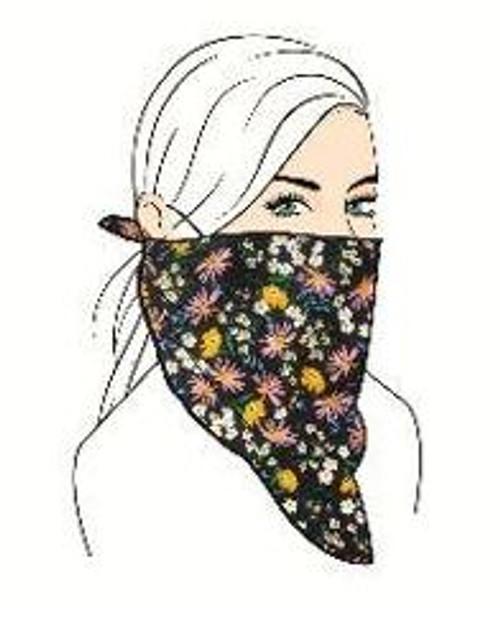 Floral Face Mask Set - Navy