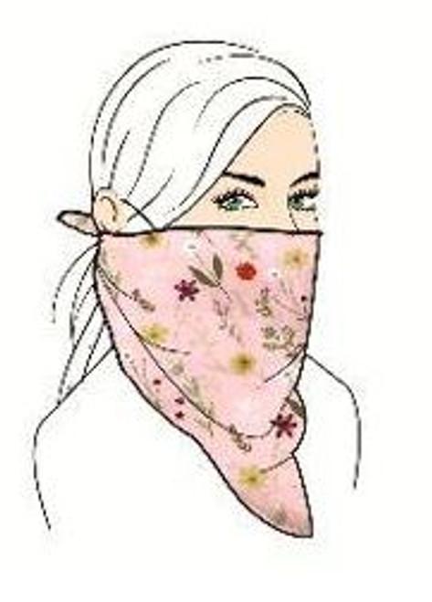 Floral Face Mask Set - Pink