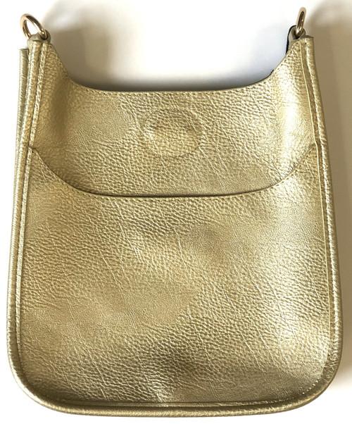 Gold Mini Vegan Messenger Bag