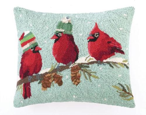 """RED BIRDS Pillow 16X20"""""""