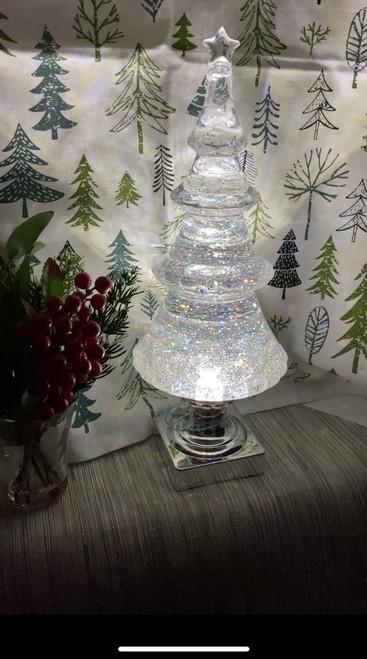 """13.5"""" CHRISTMAS TREE W/STAR/LITE"""
