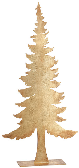 """24.5""""TREE TABLE TOP GOLD"""