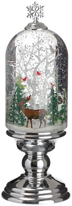 "12"" REIN DEER W/ CHRISTMAS TREE SNOW GLOBE"