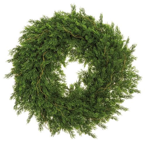 "22""CEDAR WREATH GREEN"