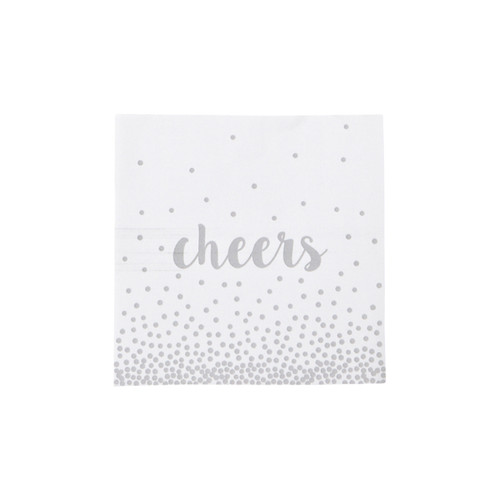 CHEERS COCKTAIL NAPKINS SILVER