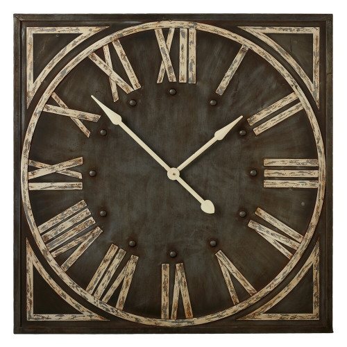 Roman Numeral Wall Clock - Grey