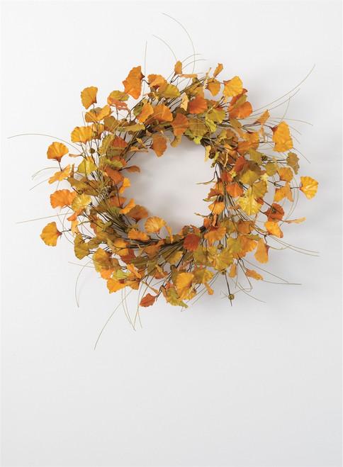 Ginkgo Pumpkin Wreath