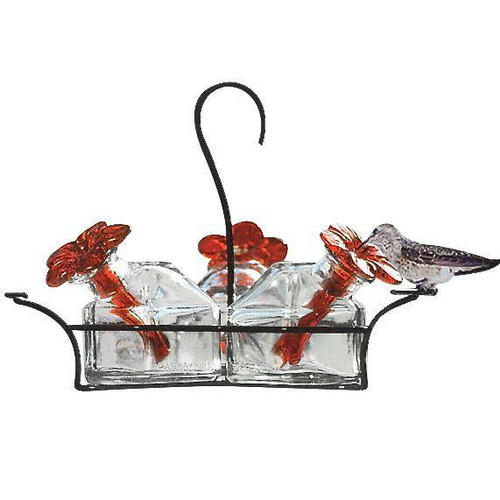 Bouquet Classic Clear 3 Hummingbird Feeder