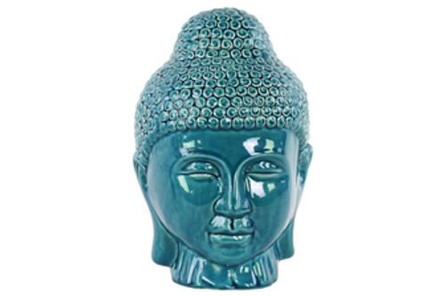 Ceramic Buddha Head with Rounded Ushnisha