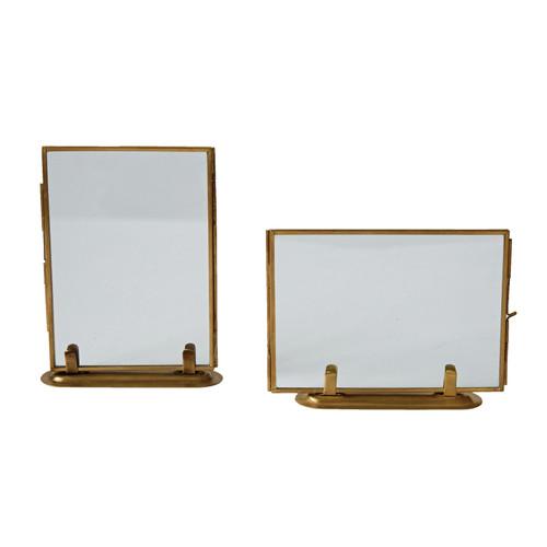 Brass & Glass Standing Photo Frame