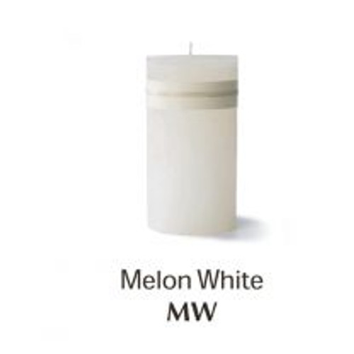 """Timber Candle, 2 x 4"""", melon white"""