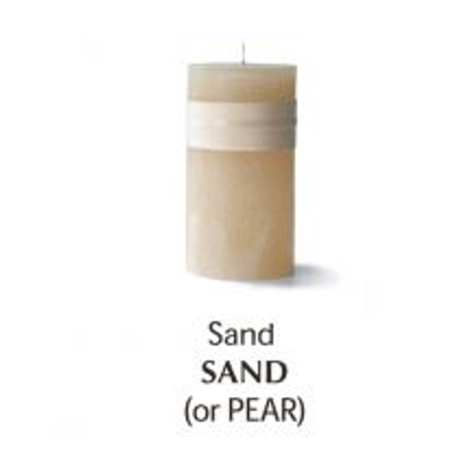 """Timber Candle, 2 x 4"""", sand"""