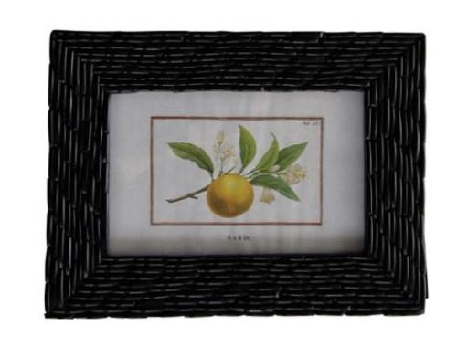 Handmade Glass Bangle Photo Frame, Brown