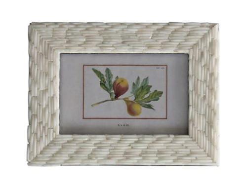 Handmade Glass Bangle Photo Frame, Ivory