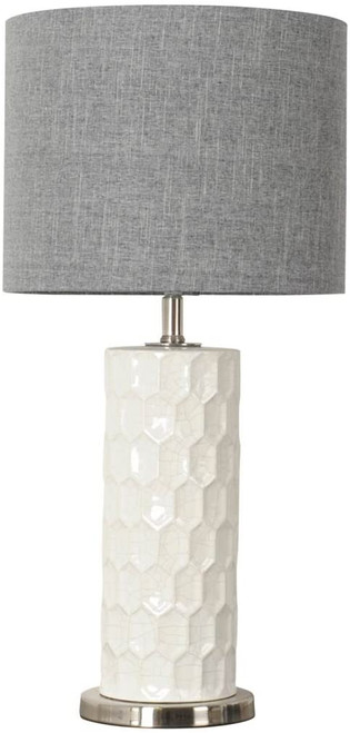 Bernier Grey and White Lamp