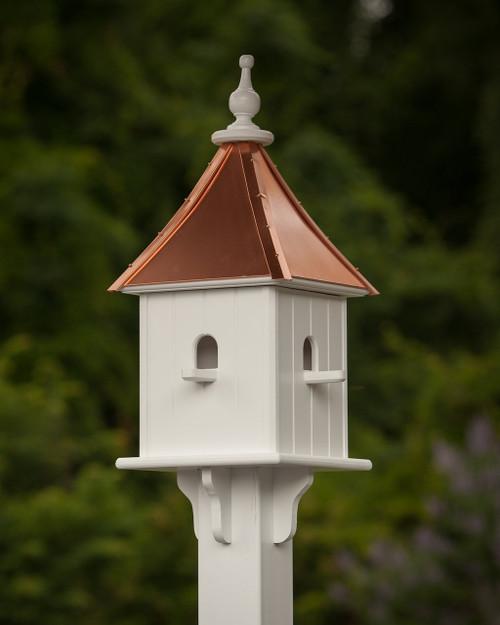 """10"""" Birdhouse - 4 Perches- Bright Copper"""