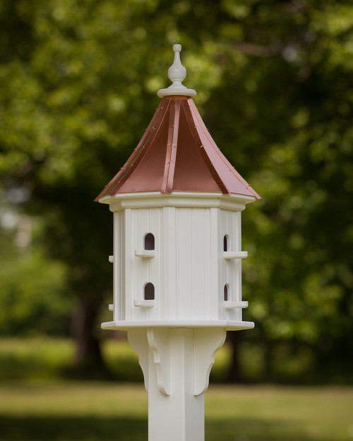 "14"" Songbird House - 8 Perches -BrightCopper Roof - Slope"