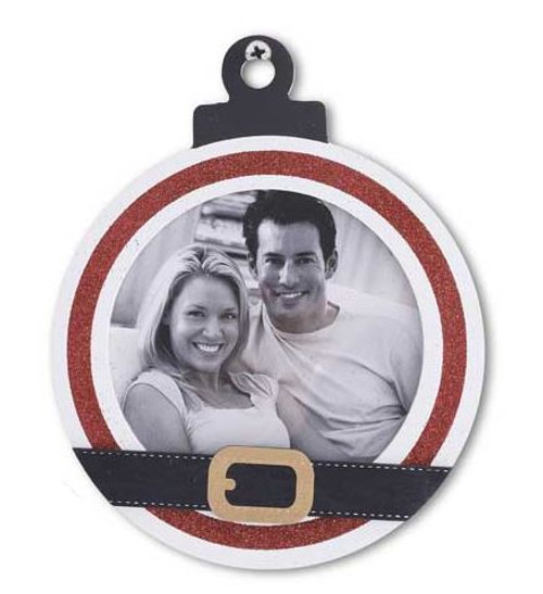 Red and White Striped Ornament Photo Frame - Style A
