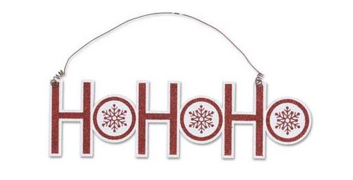 Christmas Cutout Ornament - HoHoHo