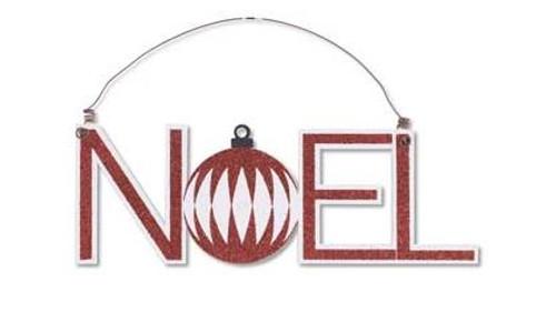 Christmas Cutout Ornament - NOEL
