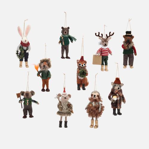 Woodland Animal Ornament
