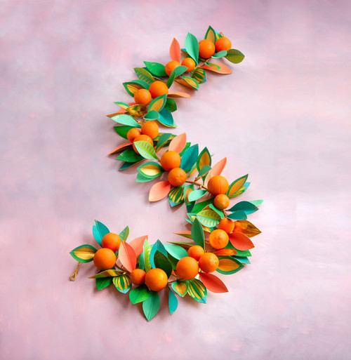 Citrus Orange Garland, 92""