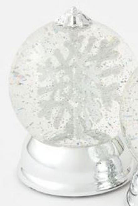 Lighted Snowflake Revolving Waterglobe, 6.5""