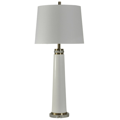 Brushed Steel and Acrylic Table Lamp