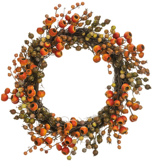 "22""BERRY/POD WREATH"