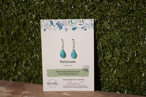 Howlite - Patience Earrings (Short)