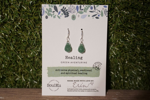 Green Aventurine - Healing Earrings (Short)