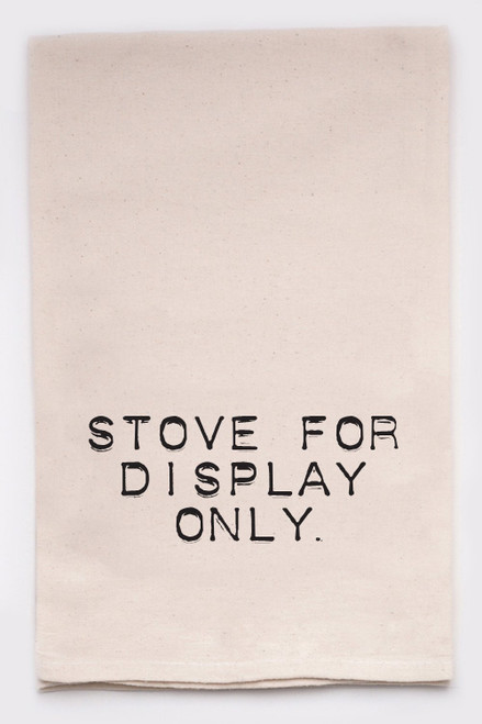 Stove for display only  (kitchen towel)