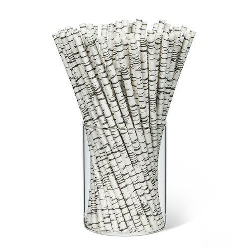 Birch Print Straws. 100 Pieces