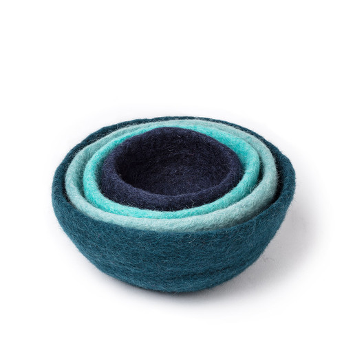 Nesting Bowls. Set of 4, Blue