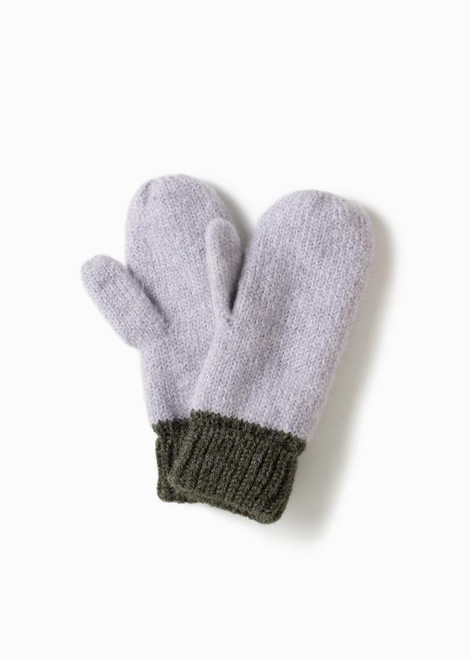 COTTON CANDY TWO TONE MITTENS - Green
