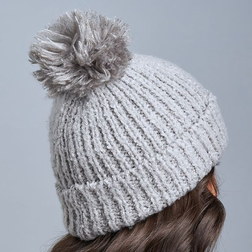 Snow Storm Hat With Pom - Flannel
