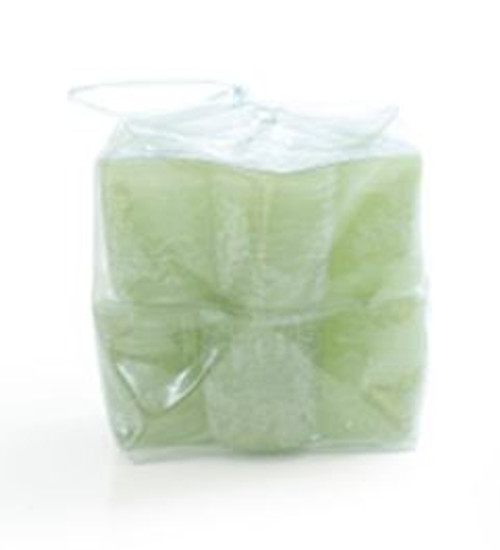 "Timber Votives in Bag, 1.5"", set of 12, green, unscented"