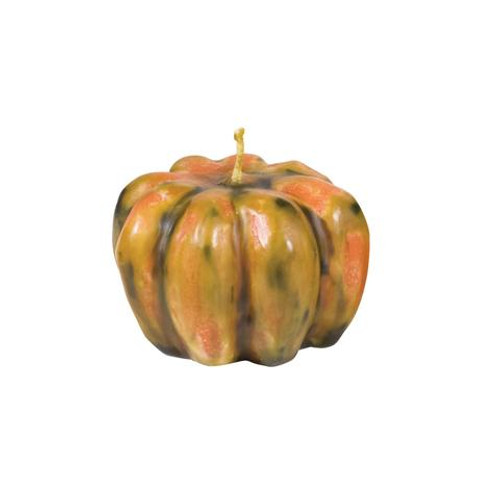 Pumpkin candle, multi color 3.25