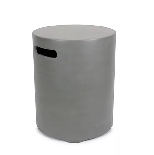 Round Concrete Tank Cover/End Table - Slate