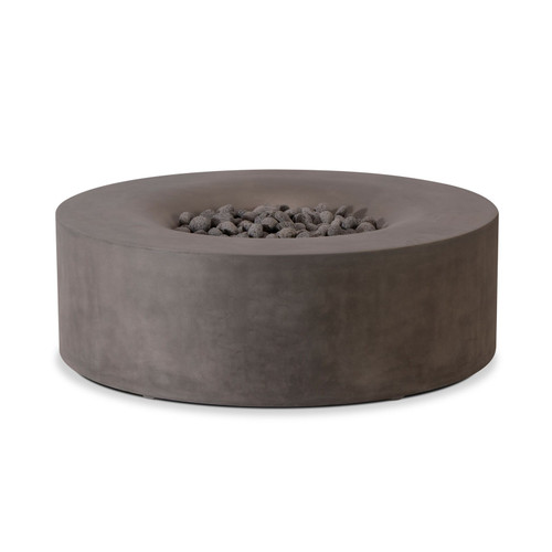 "Round Firepit Bowl 42"" x 15""H - Slate (NG)"